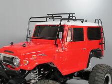 Metal Windshield Frame Protector + Roof Rack + Stair Tamiya 1/10 Land Cruiser 40