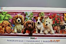 CEACO *DOG * PANORAMIC PUPPIES JIGSAW PUZZLE * 700 PCS * Complete