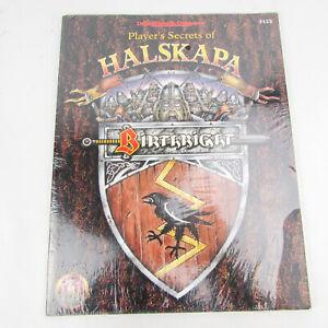 Player's Secrets of Halskapa Birthright AD&D TSR 3122 SEALED Domain D&D