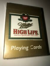 Gold Miller High Life Beer Playing Cards -Poker- Made in Usa - Sealed!