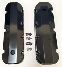 Big Block Chevy BBC 396 427 454 502 FABRICATED BLACK Aluminum Valve Covers TALL