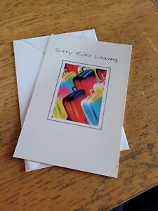Sorry you're leaving greeting card NEW