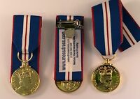 QUEENS GOLDEN JUBILEE MEDAL FULL SIZE COPY, COURT MOUNTED OR LOOSE WITH RIBBON
