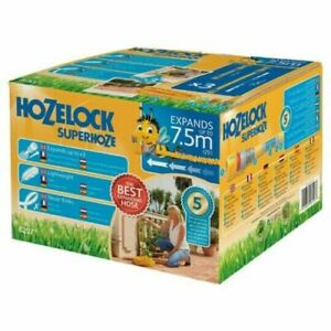 Hozelock Superhoze 7.5m (25') Garden Hose Expandable x3 Lightweight Never Kinks