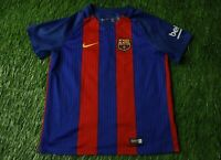 BARCELONA BARCA SPAIN 2016/2017 FOOTBALL SHIRT JERSEY HOME NIKE ORIGINAL KIDS L