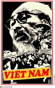 Political OSPAAAL Poster World Solidarity with Ho Chi Minh.VIETNAM War.as24