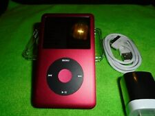 Apple iPod classic 7th Gen Red and Black (160 GB) + Extras Excellent Condition