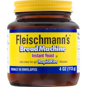FLEISCHMANN'S BREAD MACHINE INSTANT YEAST 4 OZ FLEISCHMANS RAPID RISE EXP: 01/22