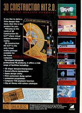 "3D Construction Kit 2.0 ""Domark"" 1992 Magazine Advert #5717"