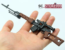 "1/6 Scale Toy Weapon SVD Sniper Rifle Gun Model  Action Figure For 12"" Soldier"