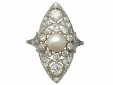 Pearl Yellow Gold Natural Fine Rings