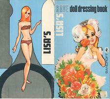 VNTG 1960s LISA'S RAVE DRESSING PAPER DOLL CUTE LASR REPRODUCTIN~Org SZ UNCT FRE