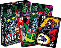 MARVEL VILLAINS - PLAYING CARD DECK - 52 CARDS NEW - COMICS 52287