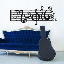 01106 Wall Stickers Sticker Adesivi Murali Decorativi Pentagramma Music 100x41cm
