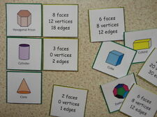 Teaching Resources - Numeracy -  3D Shapes and their properties - Matching Cards