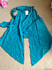 Myne Ashley Ann Audrey Silk Turquoise Teal Silk Vest Waistcoat US4 UK8