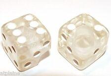 Paire de bouchons de valves LUCKY DICES cristal