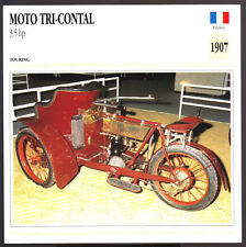 1907 Moto Tri-Contal 3.5 hp Three-Wheel Motorcycle Photo Spec Sheet Info Card