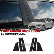 B C Pillar Carbon Fiber Decal Sticker 6Pcs For CHEVROLET 2016 - 2018 Malibu
