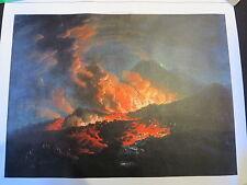 Jacques Antoine Volaire Vesuvius Erupting Night Canvas Giclee Print Image 16x22