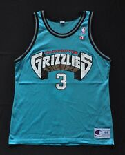 SHAREEF ABDUR-RAHIM VANCOUVER GRIZZLIES Champion Jersey Teal 44 Large RARE