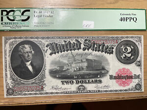 1917 $2 US Legal Tender Note * Red Seal *PCGS 40PPQ Fr.#60 SN#80068309