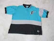 Vintage Mirage Florida Marlins Polo Shirt Adult Large Teal Gray Baseball Men 90s