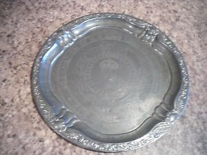 Vintage Edward VIII Coronation Metal Tin Plate Tray 1937 30.5 CM Made In England