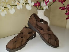 MARSH LANDING Timber Brown Leather Buckle Strap Fisherman Comfort Sandals Sz6,5M