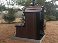 WaterLess Wood Outdoor Burner Furnace Forced Air -No Rust! No chemicals! 4375 sf