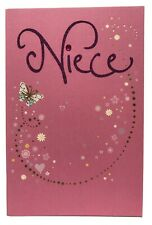 Happy Birthday Niece Pink Butterfly American Greetings Card
