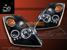FIT 07-09 SENTRA TWIN HALO CCFL LED PROJECTOR HEADLIGHTS BLACK PAIR