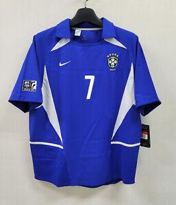 2003 BRAZIL Away S/S NO.7 RONALDINHO 03 CONFEDERATION CUP Jersey Shirt Trikot