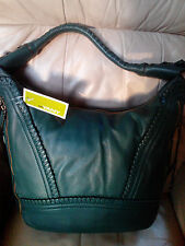 ORYANY MICHELLE SOFT NAPPA LEATHER EXPANDABLE HOBO BAG evergreen