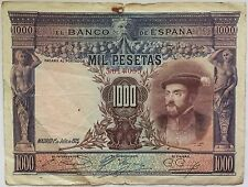 ESPAÑA - 1 000 PESETAS (1925) Billete de banco Calidad : B