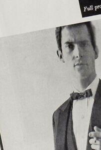 Jeremy Brett models Savile Row photo's rare feature1960's British men's magazine