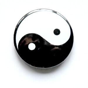 Yin Yang 25mm Button Badge