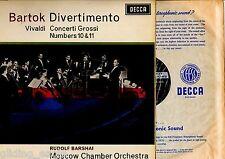 1st PRESS STEREO BARTOK DIVERTIMENTO / VIVALDI GROSSI 10&11 BARSHAI SXL6026