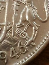 "➡➡1946 CANADA SILVER 50 CENTS Great Example!! ""Design in 6"" King George VI"