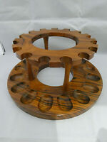 Absolutely Stunning Teak Pipe Rack for 16 pipes