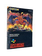 Demon's Crest Manual - Mode D'Emploi - Instruction Booklet FAH Version 🍀Rare🍀