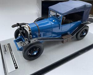BENTLEY 3L model road car + roof top up 1924 blue 60 off 1:18 Tecnomodel 18-204C