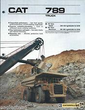 Equipment Brochure - Caterpillar - 789 - Haul Dump Truck Mining - c1988 (E2849)