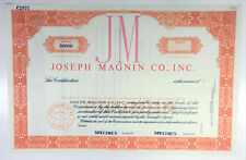1950s JOSEPH MAGNIN CO. INC. Stock Certificate SPECIMEN San Francisco California