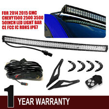 2014-2015 Chevy Silverado & GMC Sierra 50'' Curved LED Light Bar+ Mount Bracket