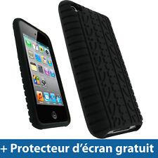 Noir Pneu Silicone Etui pour Apple iPod Touch 4G 4ème iTouch Housse Coque Case