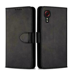 For Samsung Galaxy XCover 5 Premium Flip Slim Leather Wallet Stand Case Cover