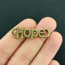 4 Hope Connector Charms Antique Bronze Tone - BC251