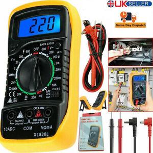 LCD Digital Multimeter Voltmeter Ammeter AC DC OHM Current Circuit Tester