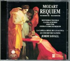 MOZART REQUIEM Montserrat Figueras Gerd Türk JORDI SAVALL CD Trauermusik Astree
